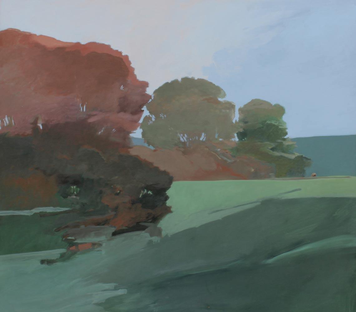"""Distant Horse, 1980, Acrylic on Canvas, 48""""x54""""."""