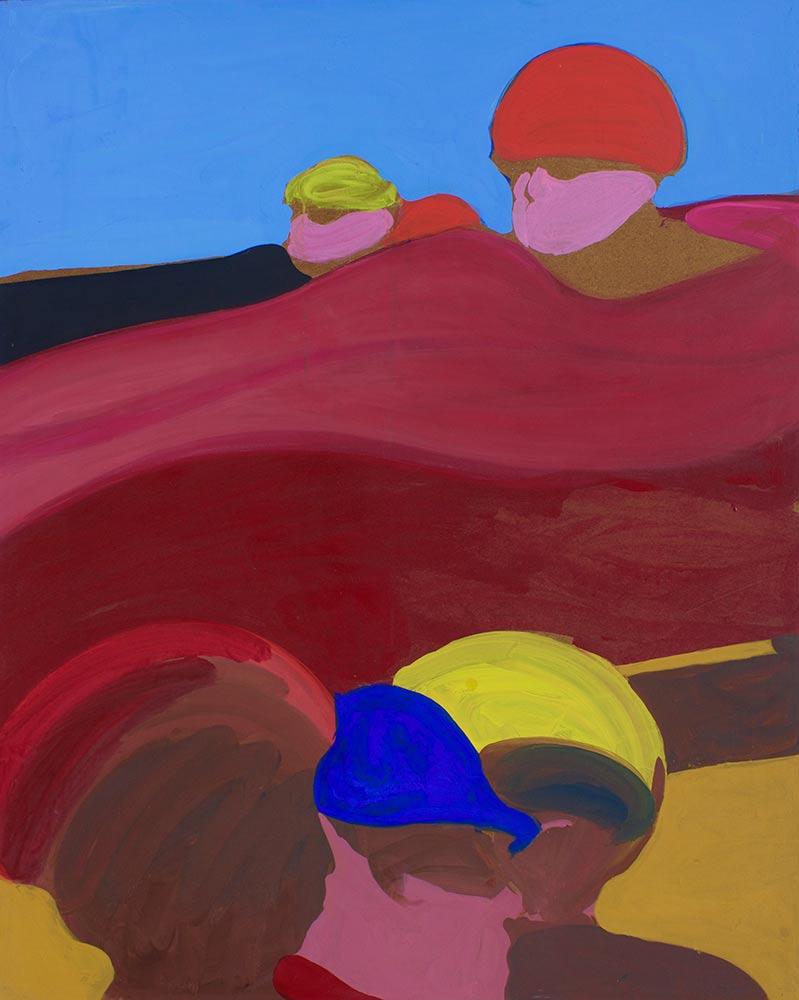 """500, 1965, Acrylic on Canvas, 50""""x40""""."""