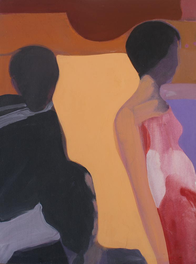 "Unknown Title, 1967, Acrylic on Canvas, 40""x30""."