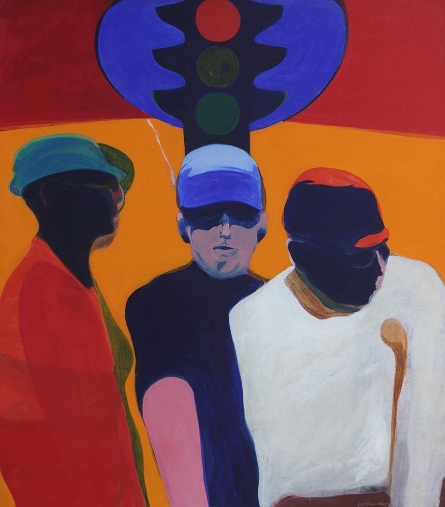 """Signal, 1965, Acrylic on Canvas, 53""""x46""""."""