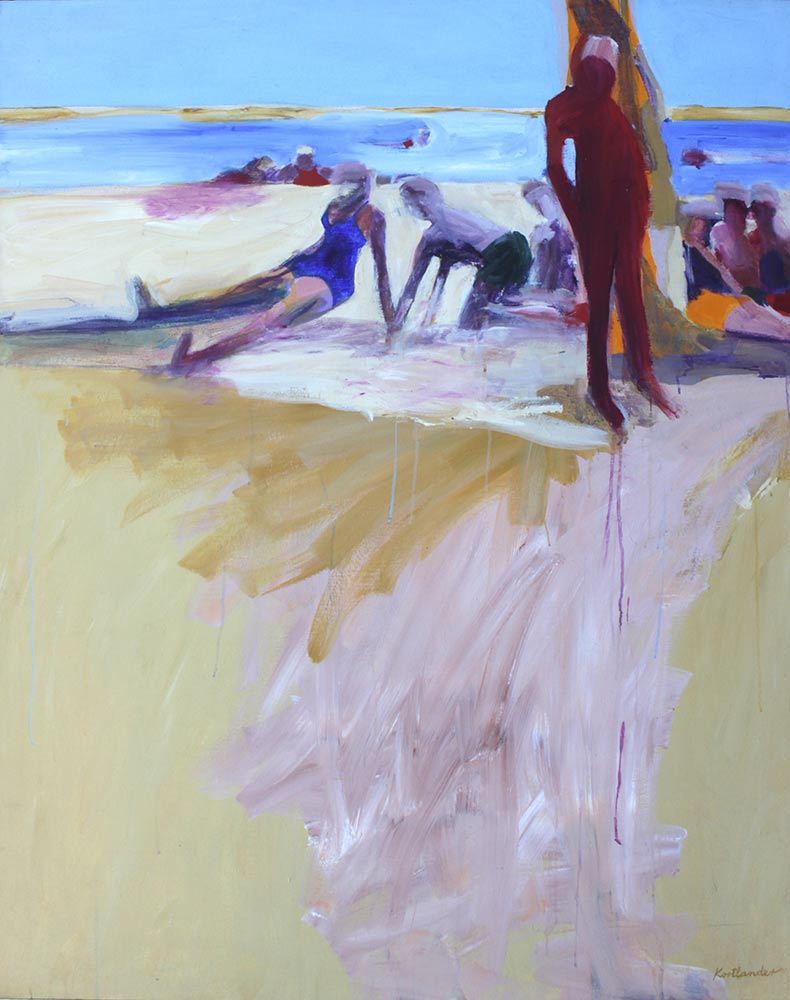"Water's Edge, 1965, Acrylic on Canvas, 60""x48""."