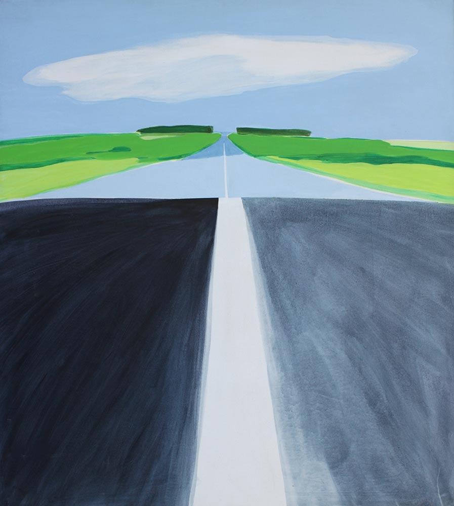 """Cloud, 1970, Acrylic on Canvas, 47""""x42""""."""