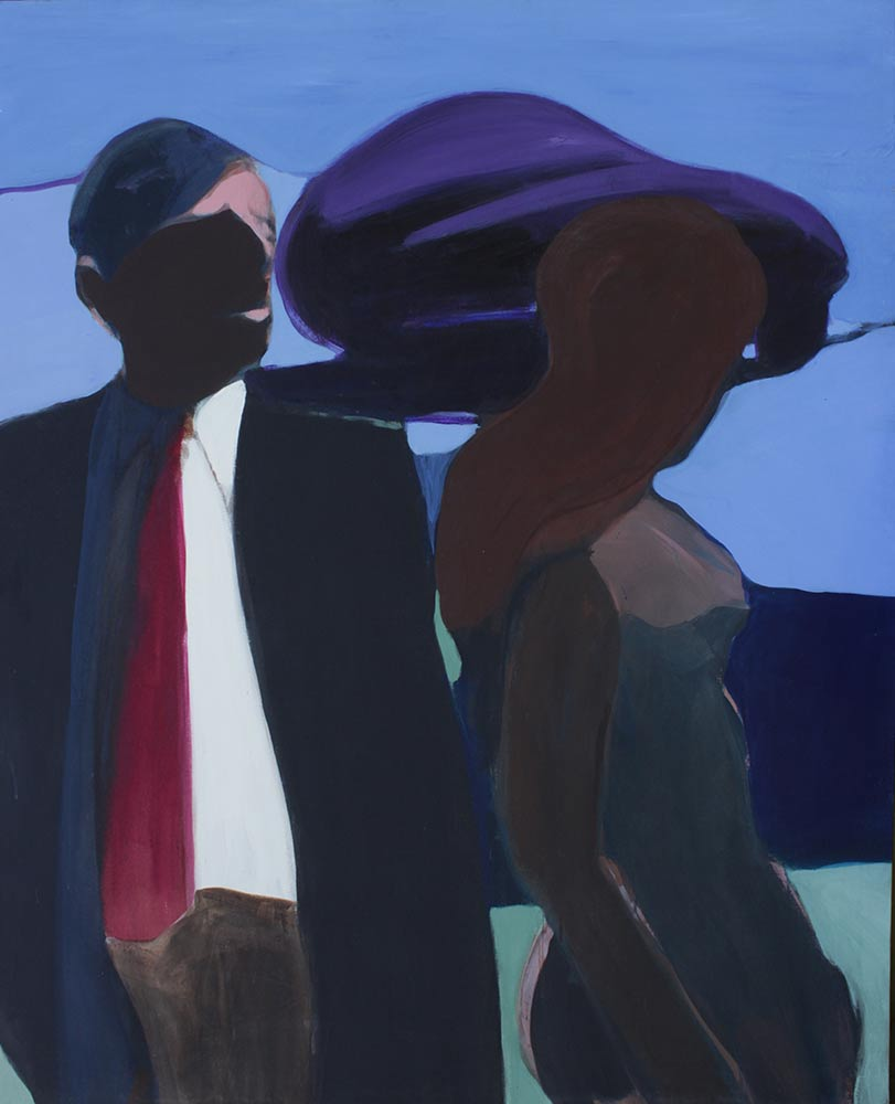 """Unknown Title, Mid 1960's, Acrylic on Canvas, 57""""x48""""."""
