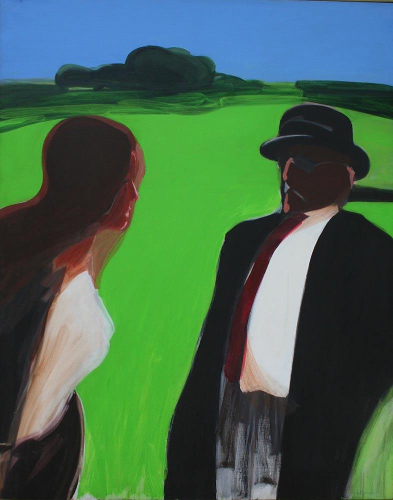 "Question, 1967, Acrylic on Canvas, 57""x45"".."