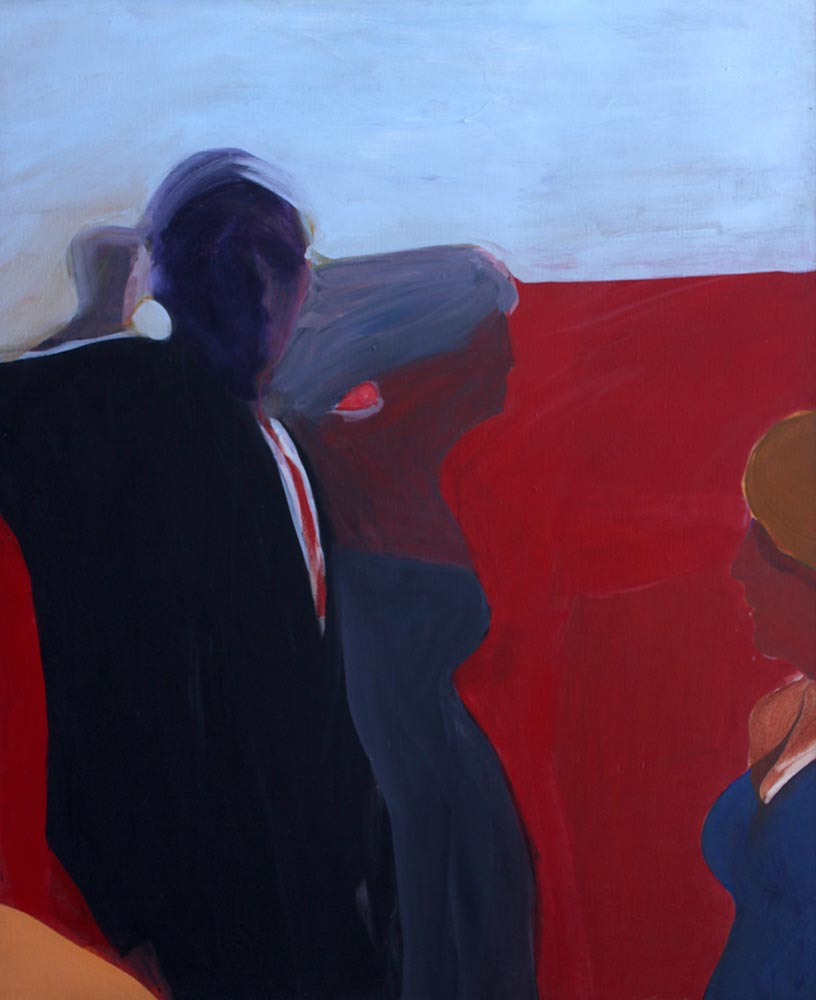 "Unknown Title, Mid 1960's, Acrylic on Canvas, 55""x45""."