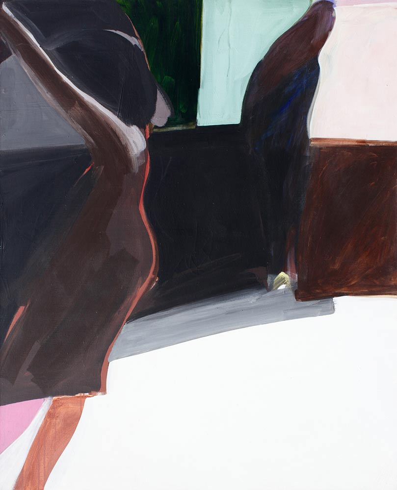 """4:20 A.M.,1966, Acrylic on Canvas, 58""""x47""""."""